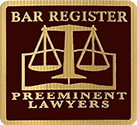 Logo Recognizing Scott Ray's affiliation with Bar Register Preeminent